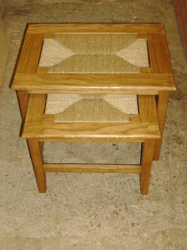 Nest of Orkney stools in Red Oak with a light stain £385